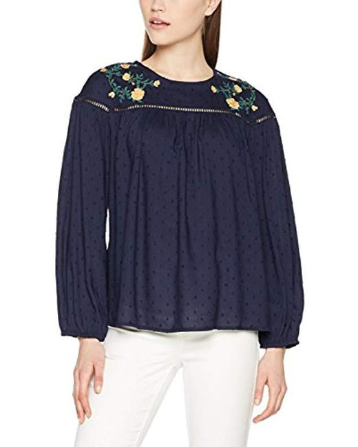 Dorothy Perkins - Blue Embroidered Bead Blouse - Lyst