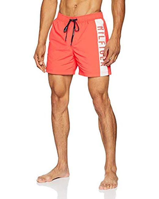 21905c5ece4b6a Tommy Hilfiger - Multicolor Medium Drawstring Swim Trunks for Men - Lyst ...