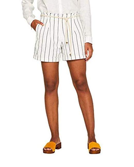 dd2a657f16 Pantalones Cortos para Mujer Esprit de color Blanco - Lyst