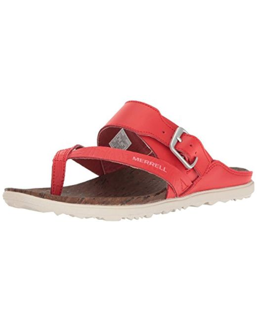 a3ed6ccb2176 Merrell - Red Around Town Sandals - Lyst ...