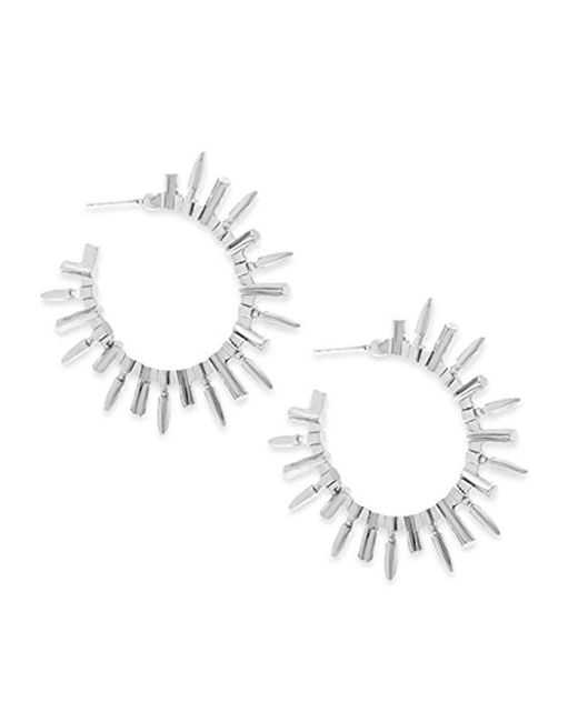 Steve Madden - Metallic Spike Open Back Hoop Earrings - Lyst