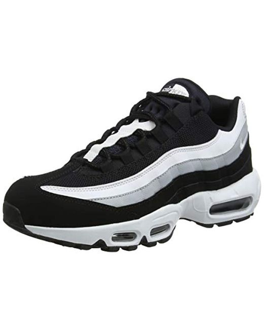 Nike Air Max 95 Essential Running Shoes in Black for Men - Save 3 ... ffae9bd92