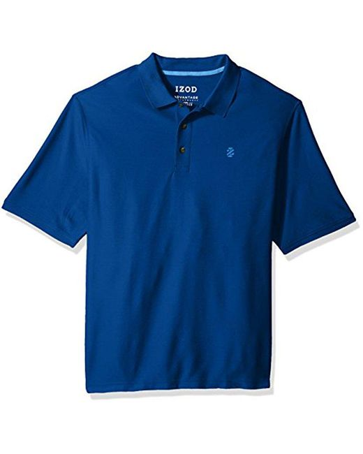 Izod - Blue Big And Tall Advantage Performance Solid Polo for Men - Lyst