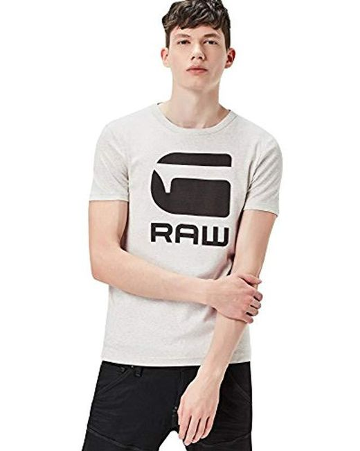 4dc25ce994aa G-Star RAW - White Drillon Round Neck Tee Short Sleeve for Men - Lyst ...