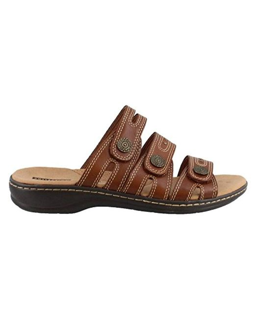 Open Sandals Slide Toe Lakia In Brown Save Lyst S Clarks Casual Twq7S7