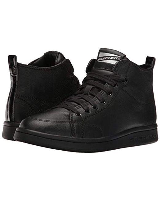 424a0c1081ac Skechers  s Omne-midtown Hi-top Sneakers in Black - Lyst