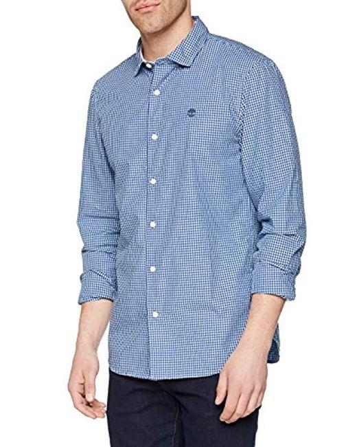 timberland chemise homme bleu