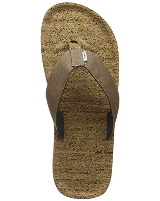 0ce67d606 O neill Sportswear Fm Chad Structure Flip Flops in Brown for Men - Lyst