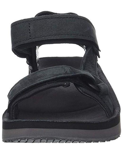 695fc5e40782 ... Teva - Black Original Universal Premier Leather Sports And Outdoor  Lifestyle Sandal for Men - Lyst ...