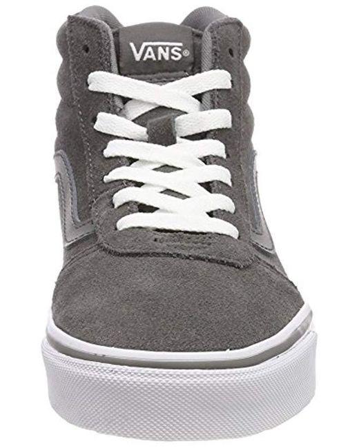 ... Vans - Gray Ward Suede Hi-top Trainers - Lyst ... 138406919
