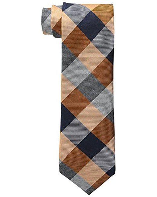 Cole Haan - Orange Bushwick Exploded Plaid Tie for Men - Lyst