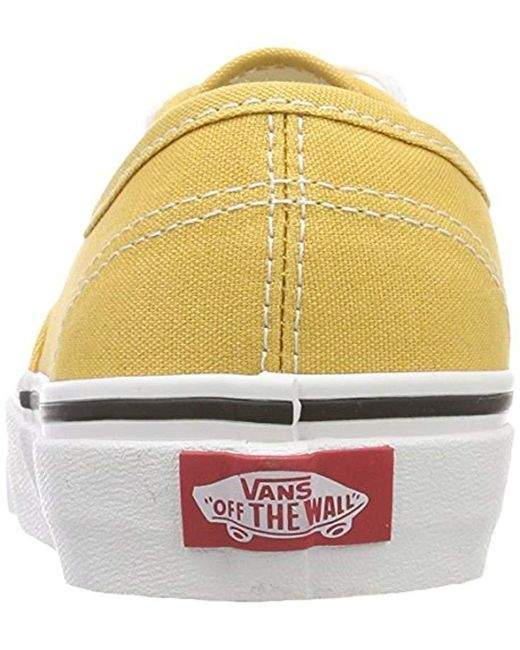 a1dba823c84 ... Lyst Vans - Yellow Adults  Authentic Trainers ...