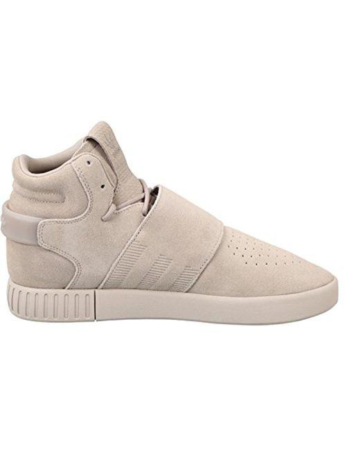 Adidas Originals - Gray Tubular Invader Strap Shoes - Lyst