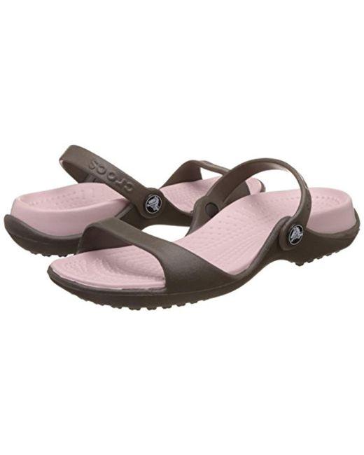 2b44abddcb79 ... Crocs™ - Multicolor Cleo Croslite Sandals - Lyst ...