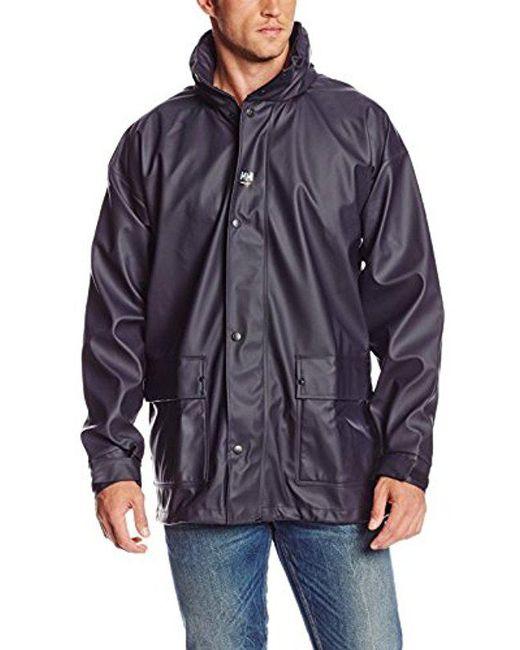 Helly Hansen - Blue Workwear Impertech Deluxe Rain And Fishing Jacket for Men - Lyst