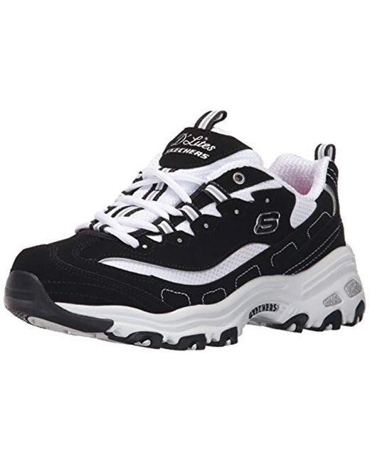 2df340a0d091 Skechers D Lites-Biggest Fan Low-top Sneakers in Black - Save 20% - Lyst