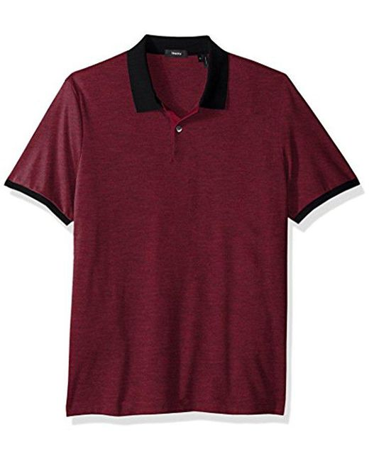 Theory - Red Dressy Polo for Men - Lyst