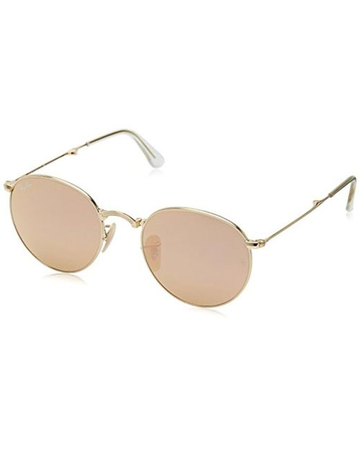 Lyst - Ray-Ban Metal Man Sunglasses - Gold Frame Copper Flash Lenses ...