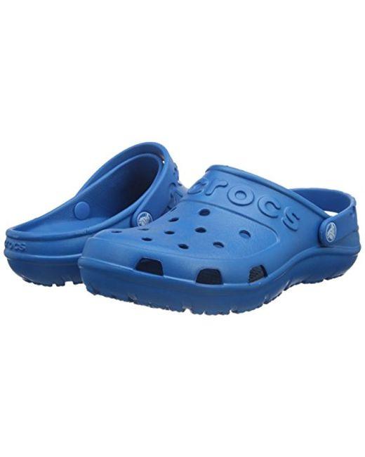5ed0ed8ea ... Crocs™ - Blue Unisex Adults Hilo Clog for Men - Lyst ...