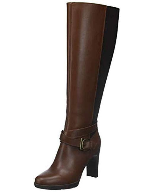 1a10a94cd9429 Geox - Brown D Annya High F Boots - Lyst ...