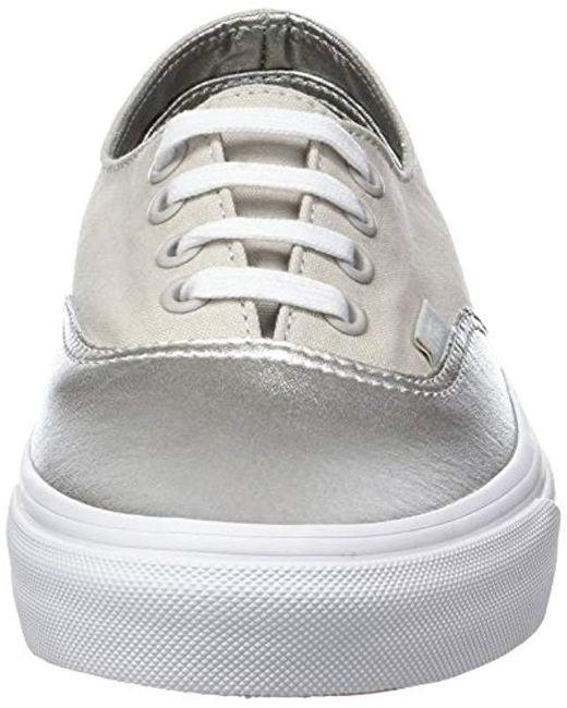 8243c2cbea ... Vans - Metallic Ua Authentic Decon Low-top Sneakers - Lyst ...