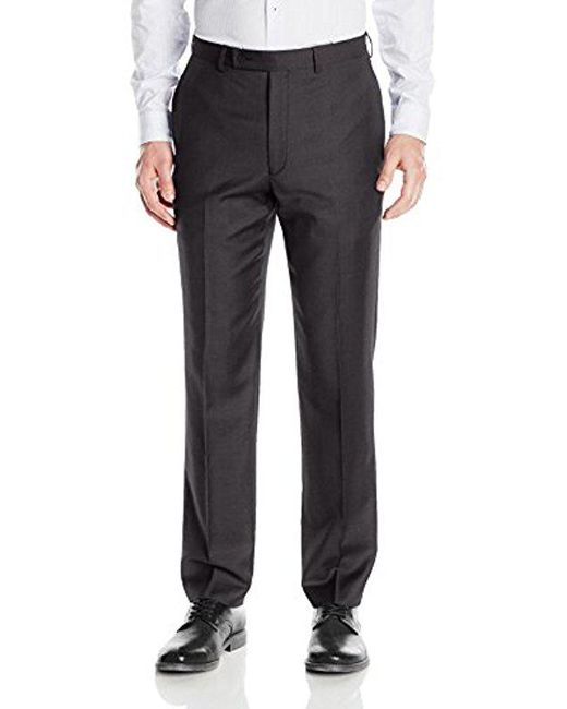 CALVIN KLEIN 205W39NYC - Black Modern Fit Flat Front Suit Separate Pant for Men - Lyst