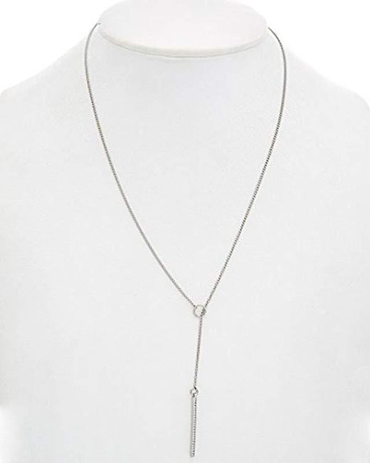 Rebecca Minkoff - Metallic Bar Lariat Y-shaped Necklace - Lyst