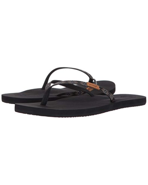 new arrival 16d4d 88bb6 Women's Slim Ginger Beads Flip Flops, Black Schwarz/braun, 5 Uk