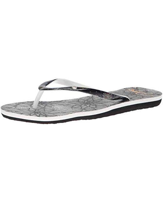 f7928b4a9e81 Roxy - White Portofino Flip Flop Sandals - Lyst ...