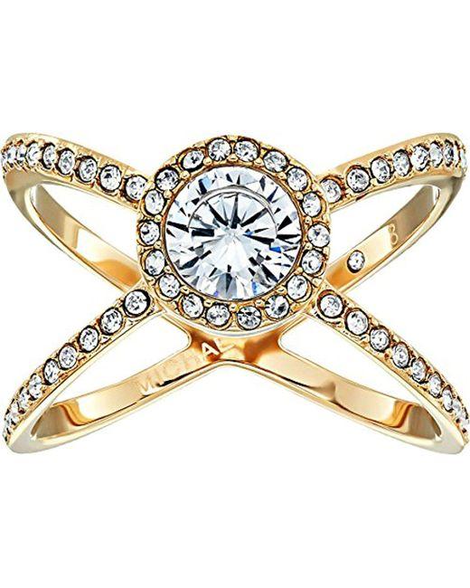 Michael Kors - Metallic Pave X Ring - Lyst