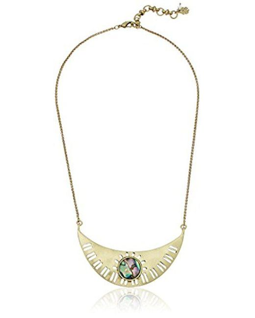Lucky Brand - Metallic Abalone Collar Necklace - Lyst