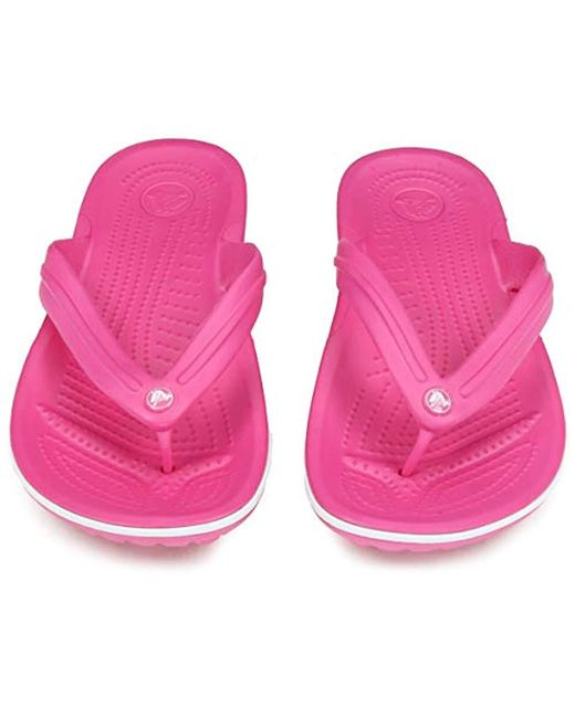 1fc5515f943f Lyst - Crocs™ Crocband Flip Flop in Pink - Save 35%