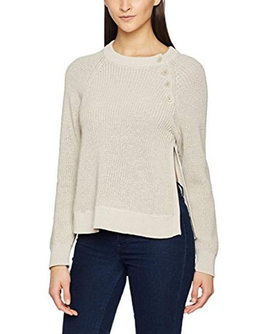 Filippa K - Natural Cotton Mix Slit Pullover Jumpers - Lyst