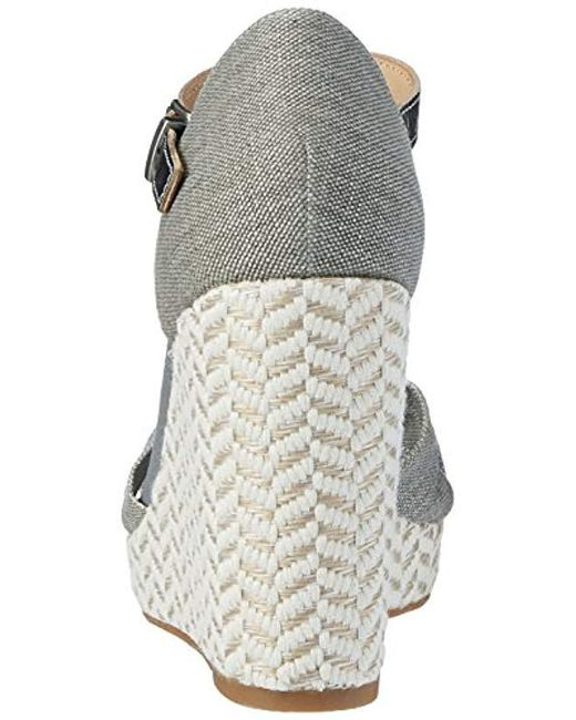 f851474f4dc8e5 Tommy Hilfiger  s E1285lena 3d Wedge Sandals in Gray - Lyst