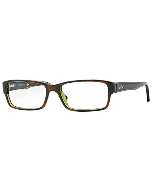b5aa90f9269 Ray-Ban - Rx5169 Glasses In Black On Transparent Rx5169 2034 52 for Men -