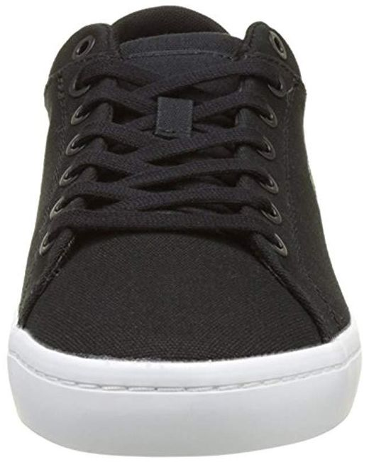 6626359fe ... Lacoste - Black Straightset Bl 2 Cam Trainers Blue for Men - Lyst ...