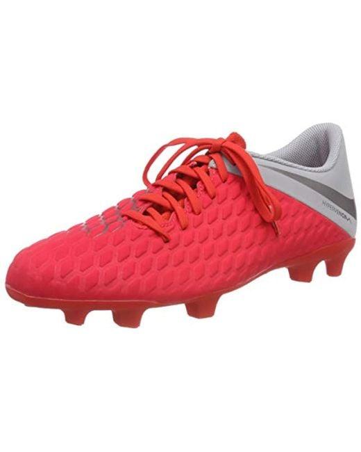 check out b850e 2b146 ... spain nike red unisex adults hypervenom 3 club fg low top sneakers for  men beb66 b1fe4