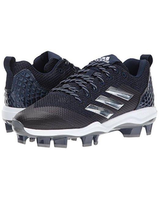 Lyst adidas originali mostro x carbonio metà softball scarpa in blu per gli uomini.