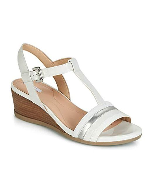 02f51064b2f Geox - White D Marykarmen C Open Toe Sandals - Lyst ...