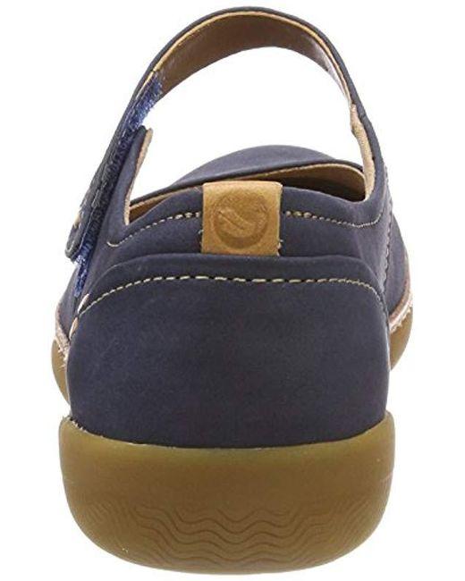 c558562d ... Clarks - Blue Un Haven Strap Ballet Flats - Lyst ...