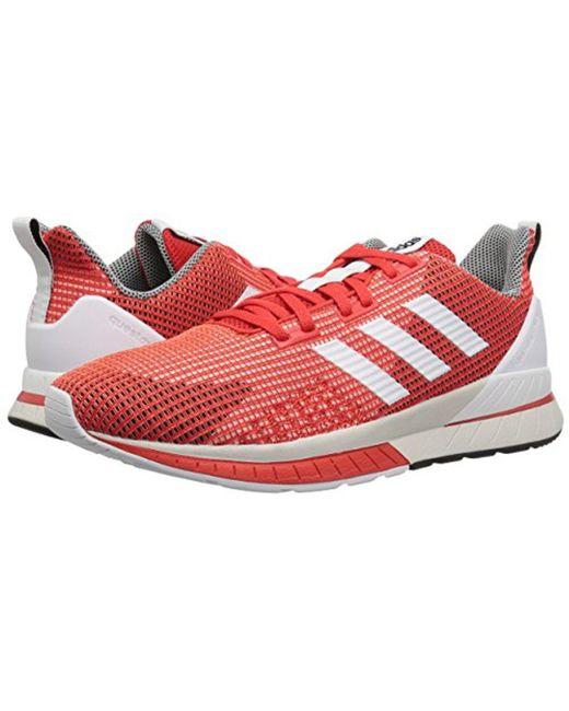 lyst adidas questar e scarpe da corsa in rosso per gli uomini.