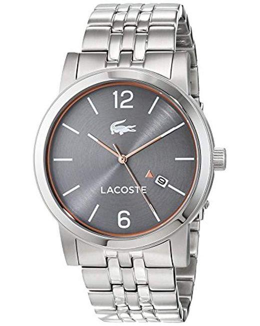 05221744c705 Lacoste - Multicolor Reloj Análogo clásico para Hombre de Cuarzo con Correa  en Acero Inoxidable 2010927 ...