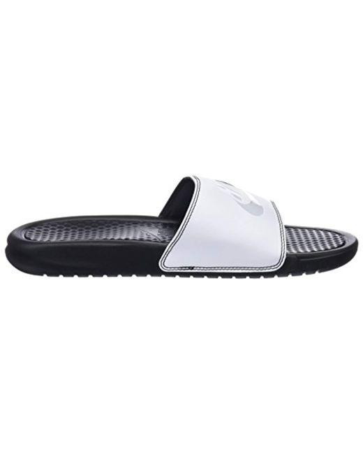 718e127eb ... Nike - Black Benassi Just Do It Athletic Sandal for Men - Lyst ...