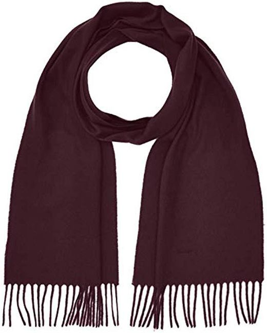Gant Purple Solid Lambswool Scarf for men