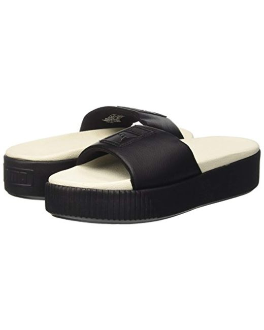 a02b56399f05 PUMA Platform Slide Beach   Pool Shoes in Black - Save 6% - Lyst