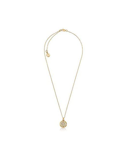 Michael Kors - Metallic Flip Glitz Pendant Necklace - Lyst