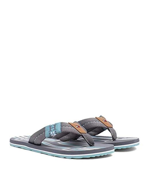 32d8f8a19dc Tommy Hilfiger - Gray Badge Textile Beach Sandal