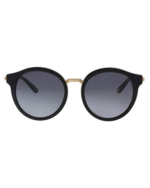a73c600c2976ee Lyst - Juicy Couture Ju596 s Round Sunglasses, Blk Gold, 52 Mm in ...
