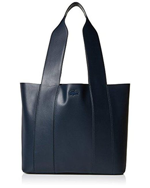 Lacoste - Blue Medium Shopping Bag, Nf2383py - Lyst
