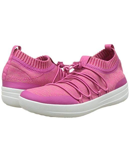 4f28b4287ce8 ... Fitflop - Pink Uberknit Slip-on Ghillie Sneakers Slip On Trainers -  Lyst ...